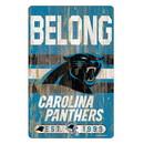 Carolina Panthers Sign 11x17 Wood Slogan Design