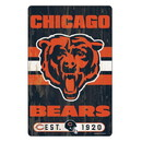 Chicago Bears Sign 11x17 Wood Slogan Design