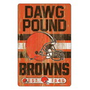 Cleveland Browns Sign 11x17 Wood Slogan Design