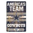 Dallas Cowboys Sign 11x17 Wood Slogan Design