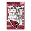 Arizona Cardinals Sign 11x17 Wood Established Design