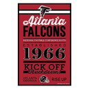 Atlanta Falcons Sign 11x17 Wood Established Design
