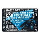 Carolina Panthers Sign 11x17 Wood Established Design