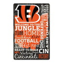Cincinnati Bengals Sign 11x17 Wood Established Design