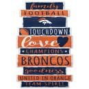Denver Broncos Sign 11x17 Wood Established Design