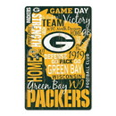 Green Bay Packers Sign 11x17 Wood Established Design