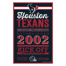 Houston Texans Sign 11x17 Wood Established Design
