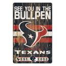 Houston Texans Sign 11x17 Wood Slogan Design