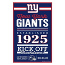 New York Giants Sign 11x17 Wood Established Design