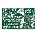 New York Jets Sign 11x17 Wood Established Design