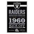 Oakland Raiders Sign 11x17 Wood Established Design