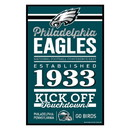 Philadelphia Eagles Sign 11x17 Wood Established Design