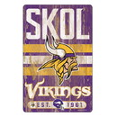 Minnesota Vikings Sign 11x17 Wood Slogan Design