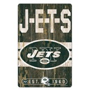 New York Jets Sign 11x17 Wood Slogan Design