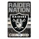Oakland Raiders Sign 11x17 Wood Slogan Design