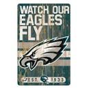 Philadelphia Eagles Sign 11x17 Wood Slogan Design