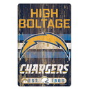 Los Angeles Chargers Sign 11x17 Wood Slogan Design