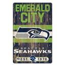 Seattle Seahawks Sign 11x17 Wood Slogan Design