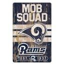Los Angeles Rams Sign 11x17 Wood Slogan Design