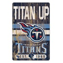 Tennessee Titans Sign 11x17 Wood Slogan Design