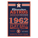 Houston Astros Sign 11x17 Wood Established Design