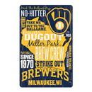 Milwaukee Brewers Sign 11x17 Wood Established Design
