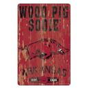 Arkansas Razorbacks Sign 11x17 Wood Slogan Design
