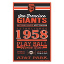 San Francisco Giants Sign 11x17 Wood Established Design
