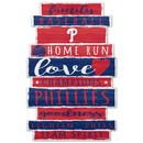 Philadelphia Phillies Sign 11x17 Wood Established Design