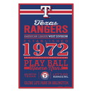 Texas Rangers Sign 11x17 Wood Established Design