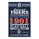 Detroit Tigers Sign 11x17 Wood Established Design