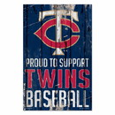 Minnesota Twins Sign 11x17 Wood Proud to Support Design