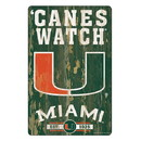Miami Hurricanes Sign 11x17 Wood Slogan Design