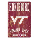Virginia Tech Hokies Sign 11x17 Wood Slogan Design