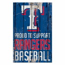 Texas Rangers Sign 11x17 Wood Proud to Support Design