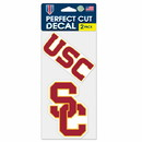 USC Trojans Set of 2 Die Cut Decals