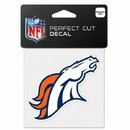 Denver Broncos Decal 4x4 Perfect Cut Color