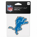 Detroit Lions Decal 4x4 Perfect Cut Color
