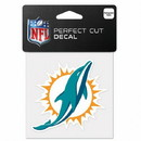 Miami Dolphins Decal 4x4 Perfect Cut Color
