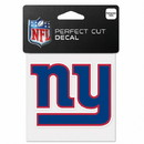 New York Giants Decal 4x4 Perfect Cut Color
