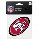 San Francisco 49ers Decal 4x4 Perfect Cut Color