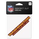 Washington Redskins Decal 4x4 Perfect Cut Color