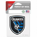 San Jose Earthquakes Decal 4x4 Perfect Cut Color