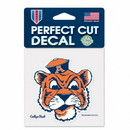 Auburn Tigers Decal 4x4 Perfect Cut Color College Vault Design Special Order