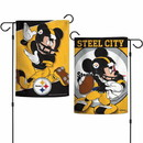 Pittsburgh Steelers Flag 12x18 Garden Style 2 Sided Disney Special Order