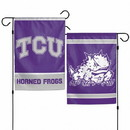 TCU Horned Frogs Flag 12x18 Garden Style 2 Sided