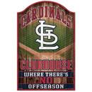St. Louis Cardinals Sign 11x17 Wood Fan Cave Design