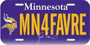Minnesota Vikings Brett Favre License Plate