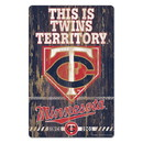 Minnesota Twins Sign 11x17 Wood Slogan Design