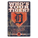 Detroit Tigers Sign 11x17 Wood Slogan Design
